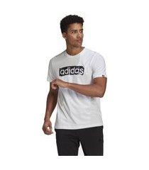 camiseta adidas box estampada brushstroke logo masculina - branco