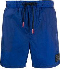 diesel mid-length swim shorts - blue