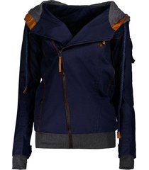 charming hooded skew zippered long sleeve thick hoodie for women