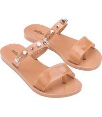 women's melissa love lip ii thong sandal, size 6 m - beige