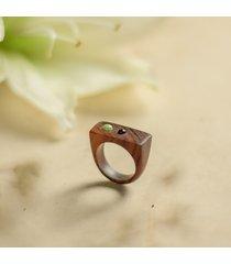 pierścionek z jadeitem i ametystem