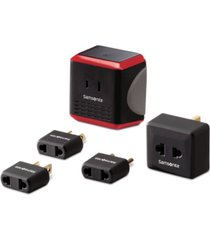 samsonite 5-pc. travel converter/adapter kit with pouch