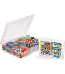 caixa organizadora plástico top grande com divisória movel