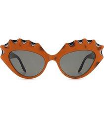 gucci gucci gg0781s orange sunglasses