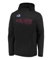 majestic colorado avalanche men's locker room rink hoodie