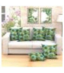 conjunto de almofada com 6 peças tropical azul 60x60 cm