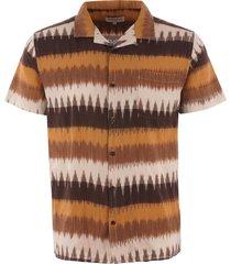 ymc navajo malick shirt - brown p2lac