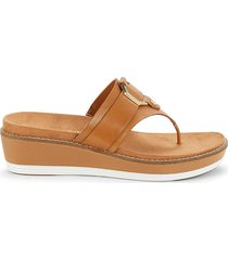 cole haan women's leather thong sandals - pecan - size 10.5