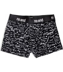 boxer negro no end letras