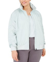 ideology plus size ruched jacket, created for macy's