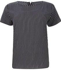 blusa cremallera trasera color negro, talla 12
