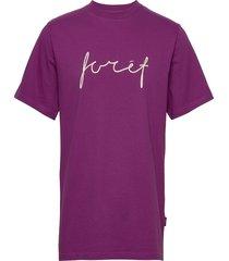 slope t-shirt t-shirts short-sleeved lila forét