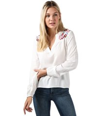 vero moda womens wendy embroidered top size 6 in white