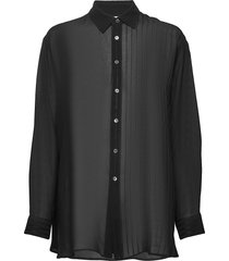 elma shirt blouse lange mouwen zwart hope