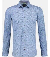 overhemd stretch print blauw (2091330 - 402)