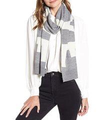 women's rebecca minkoff stadium scarf, size one size - grey