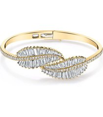18k yellow gold small palm leaf chain bracelet