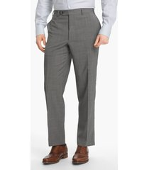 men's canali flat front wool trousers, size 40 us/ 58 eu x unhemmed - grey