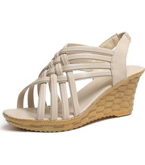 cómodo ahueca hacia fuera las sandalias transpirables zapatos del agujero