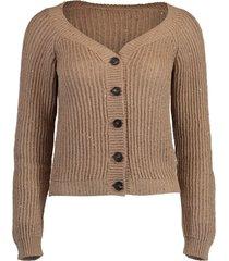 almond knit cardigan