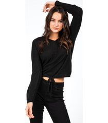 abagail bottom tie top - black