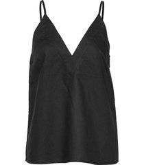 baylie top t-shirts & tops sleeveless svart stylein
