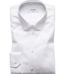 eton overhemd wit super slim normale boord