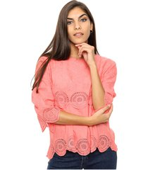 blusa coral laila heather