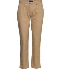 classic chino pantalon met rechte pijpen beige gant