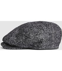 reiss clive - christys' baker boy cap in multi, mens, size m/l