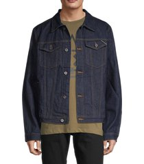 cult of individuality men's water-resistant denim jacket - blue - size m