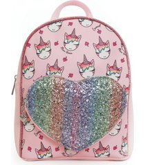 omg! accessories ice cream miss gwen printed mini backpack with heart pocket
