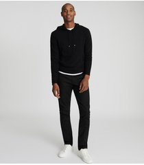 reiss santiago - cashmere blend hoodie in black, mens, size xxl