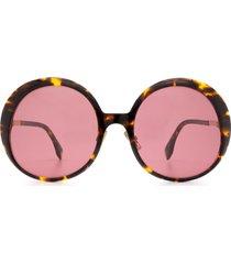 fendi fendi ff 0430/s dark havana sunglasses