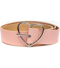 cinturon hebilla de corazon rosa guinda