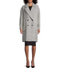 rebecca minkoff women's hayden double-breasted coat - black white - size xl