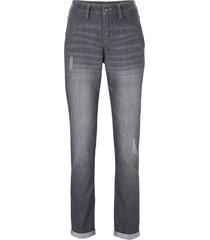 jeans elasticizzati comfort boyfriend (grigio) - john baner jeanswear