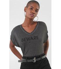 camiseta ellus spray beware grafite