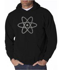 la pop art men's word art hooded sweatshirt - atom