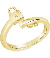 14k goldplated lock & key bypass ring