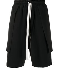 alchemy drawstring knee-length shorts - black