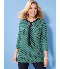 shirt m. collection marine::groen::wit