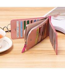 donna lesisure borsetta pochette in camoscio con 26 card slots in multicolori portafoglio