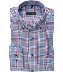 blauw rood geruit shirt ml 7 eterna comfort fit