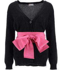 red valentino cardigan with sash belt