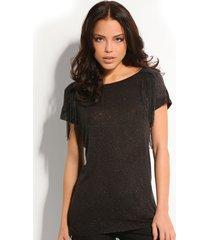 marita knit top - guess - t-shirts - zwart