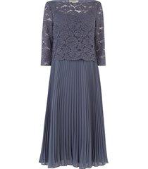 jurk met kanten top 3/4-mouwen