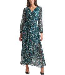 tommy hilfiger carine floral-print chiffon maxi dress