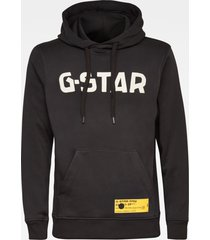 g-star d19186 a971 hooded sweater capuchon 6484 black -