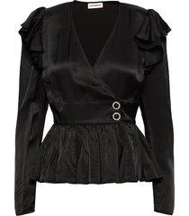 dristi blouse lange mouwen zwart custommade